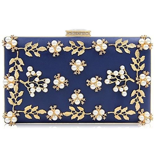 navy-blue-clutch-purse-with-pearl-and-gold-floral-petals