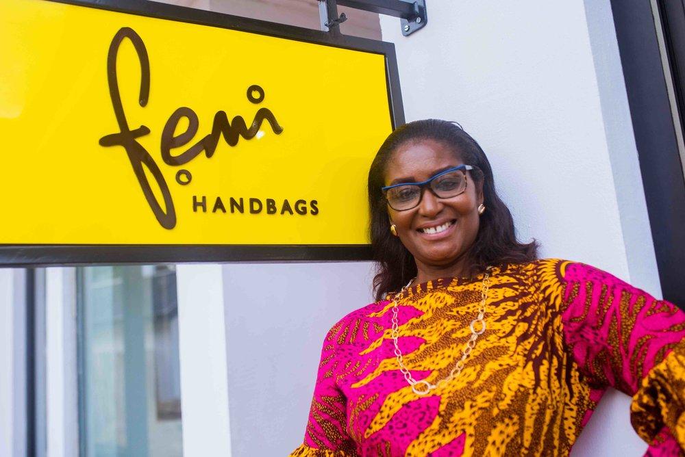 Femi Handbags founder