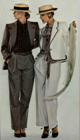 1970 Yves Saint Laurent pantaloni cu buzunare