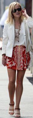 Blazerul alb - manevra vestimentara de primavara