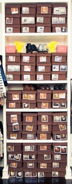 Depozitarea pantofilor in cutii