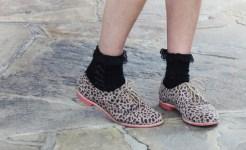 Pantofi cu siret si sosete cu dantela