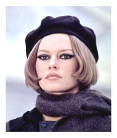 Brigitte Bardot cu bereta