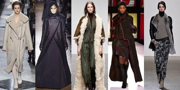 Asimetrii, shearling – unele dintre tendintele in hainele groase ale lui 2014