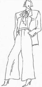 Sacouri cu umeri structurati, jabou si pantaloni Marlene Dietrich - preluati toate elementele anilor 40 sau macar o parte din ele pentru a le integra in garderoba