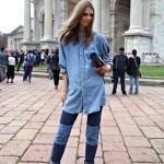 Trend - jeansi cu petice motocycle style