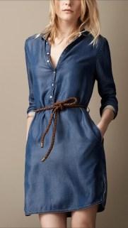 Robe-chemise de jeans, pantofi inalti pentru birou sau slapi pentru plaja