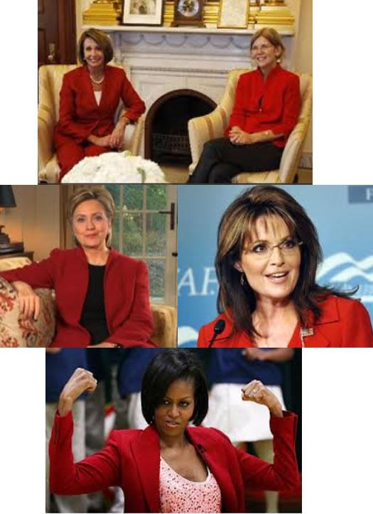 Femeile politician si rosul