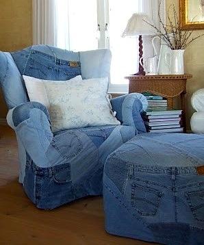Tapiteaza fotoliul cu vechii jeansi