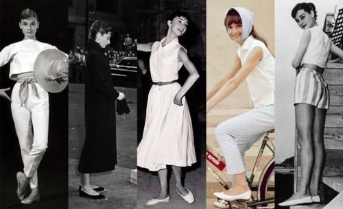 Audrey Hepburn incaltata in pantofii sai de suflet. Pana la urma era o confortabila!