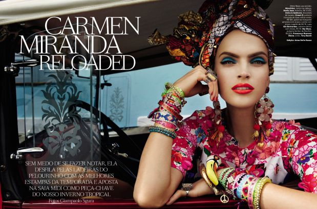 Carmen Miranda Reloaded – Vogue Brazilia