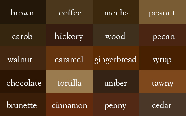 color-thesaurus-correct-names-brown-shades