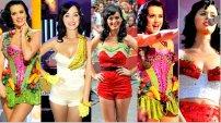 Katy Perry si tinutele ei de scena, burlesco-fructato-ridicole! Are simtul umorului si e frumoasa, i se iarta!