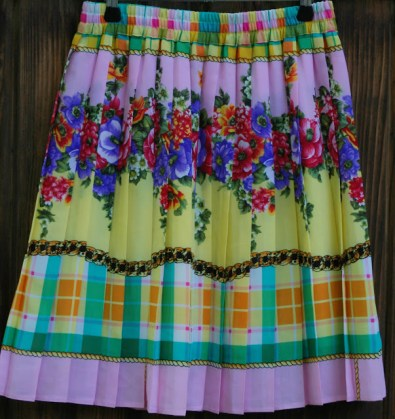 fusta plisata multicolor