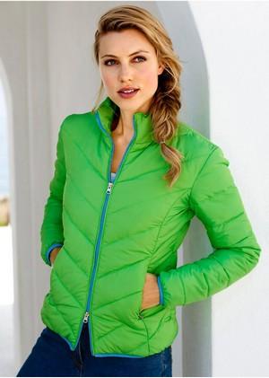 Geaca verde matlasata www.bonprix.ro