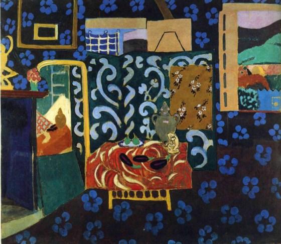 Henri Matisse - Interior cu vinete - perioada fauvista si influenta calatoriei in Algeria