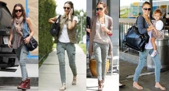 Jessica Alba si pantalonii cargo