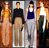 Pantaloni clasici lungi in variante mai stramte sau mai largi