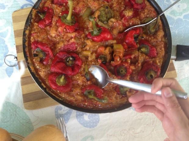 Tocana de vinete cu ardei copti - Mangi