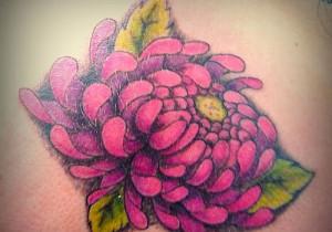 Crizanteme pe piele