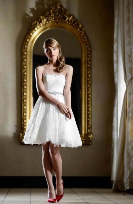 Rochie de mireasa scurta by White Pearl