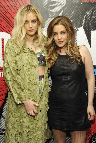 Lisa Marie Presley and her daughter