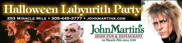 Thursday - Labyrinth Theme Halloween at JohnMartin's