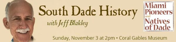 Historian Jeff Blakley at Gables Museum