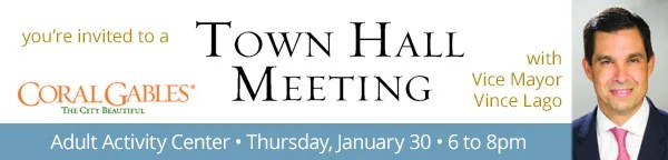Town Hall Meeting with Vice Mayor Vince Lago