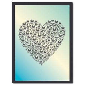 Affisch hjärta turkos