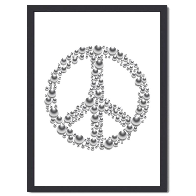 Affisch Peace vit