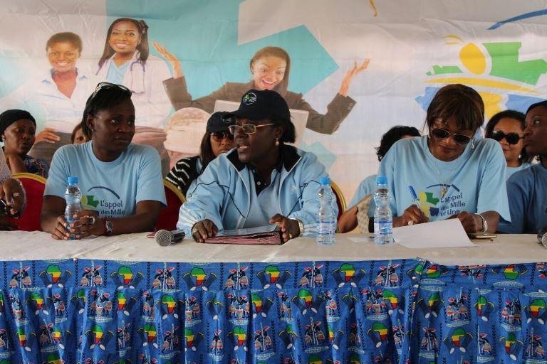 """Nicole Asselé veut que la femme gabonaise saisisse les opportunités qu'offre """"La décennie de la femme"""", un programme lancé par les plus hautes autorités pour autonomiser la femme gabonaise au travers des actions multiforme @ F. M. U."""