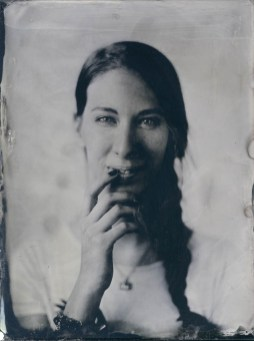 Vera – 18x24cm wetplate collodion ambrotype on clear glass (part of the Fairground Portraits series)
