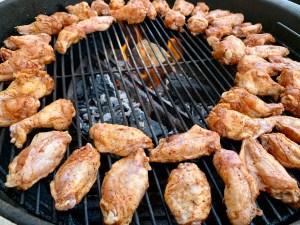chicken wings on weber grill