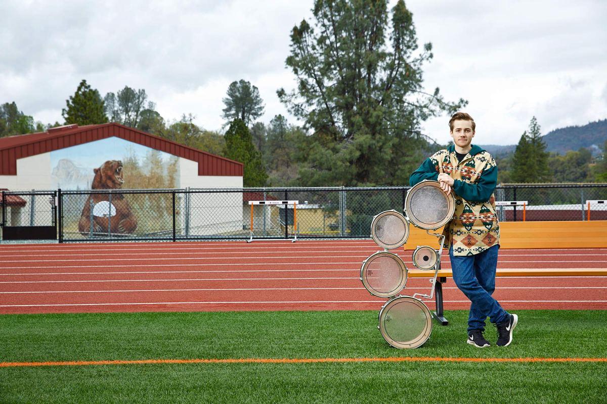 Trans teen Oliver Bishop for UCSF Magazine.