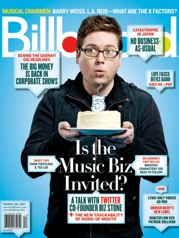Biz Stone for Billboard Magazine.