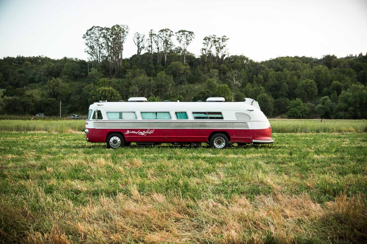 Outstanding in the Field bus for Imbibe magazine.