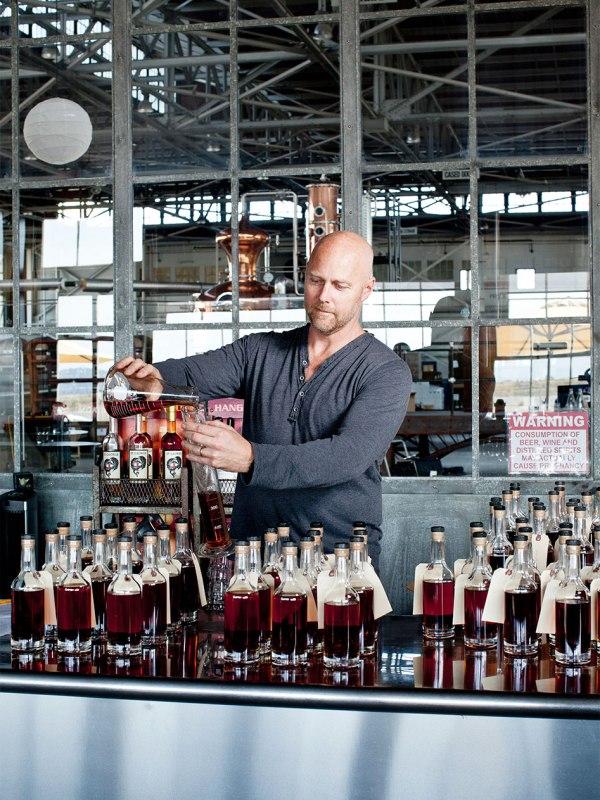 Master distiller Lance Winters at St. George Spirits Distillery in Alameda, Ca.