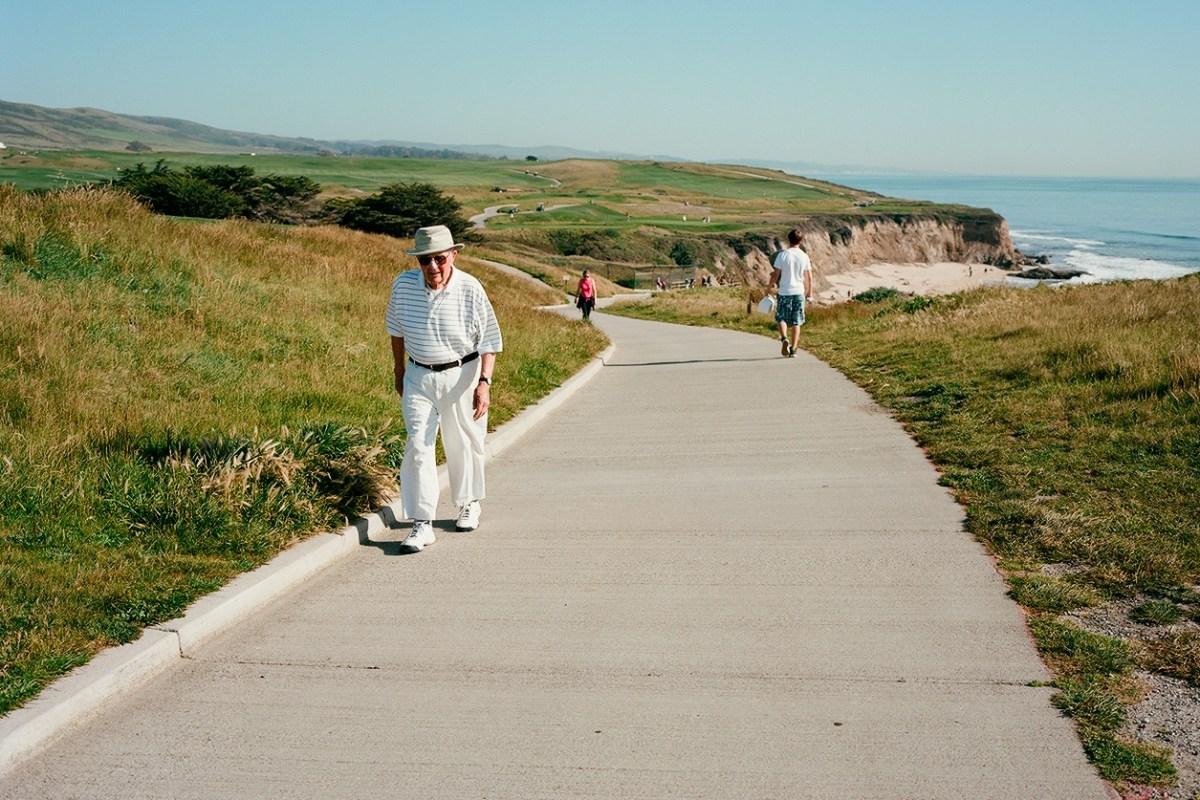 Half Moon Bay path.