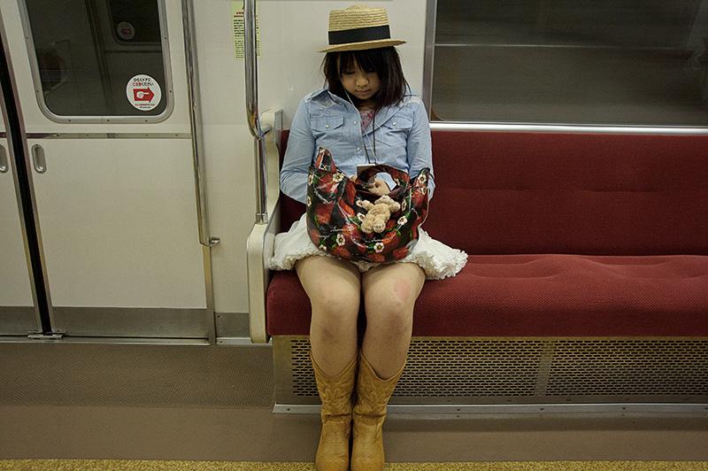 Japan, Tokyo, young girl, subway
