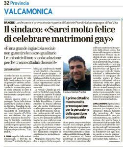 Articolo apparso sul quotidiano Bresciaoggi