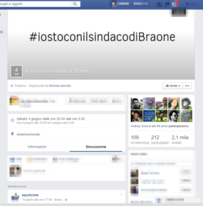 evento facebook #iostoconilsindacodibraone