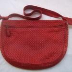 Red Bottega Veneta Intrecciato Handbag