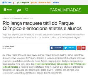 Gabriella Zubelli - Matéria Globo Esporte