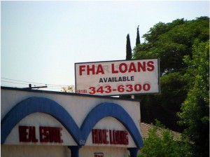 FHA loan billboard