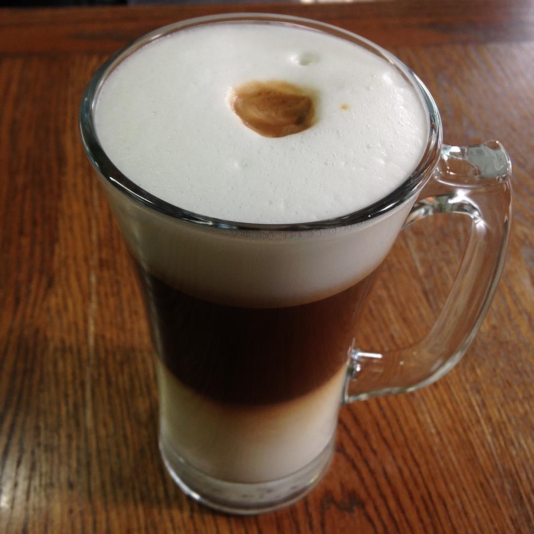 Abe's pours a delicious double latte