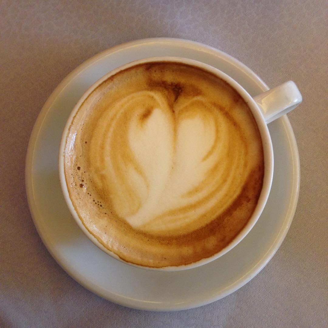 Breakfast cappuccino at Hotel Colomba d'Oro in Verona