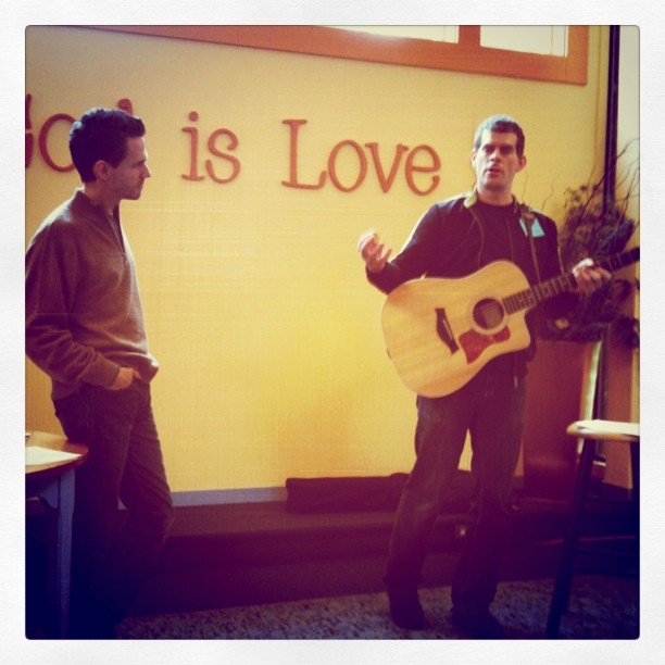 Christian Science talk and music by Tom McElroy and Alex Cook