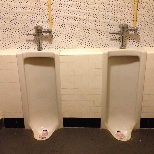 Excellent old school urinals :)
