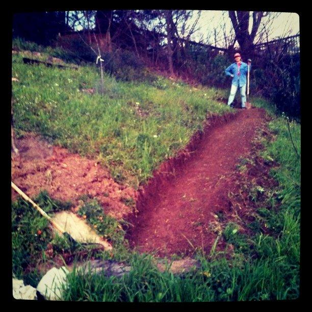 Fresh dug path